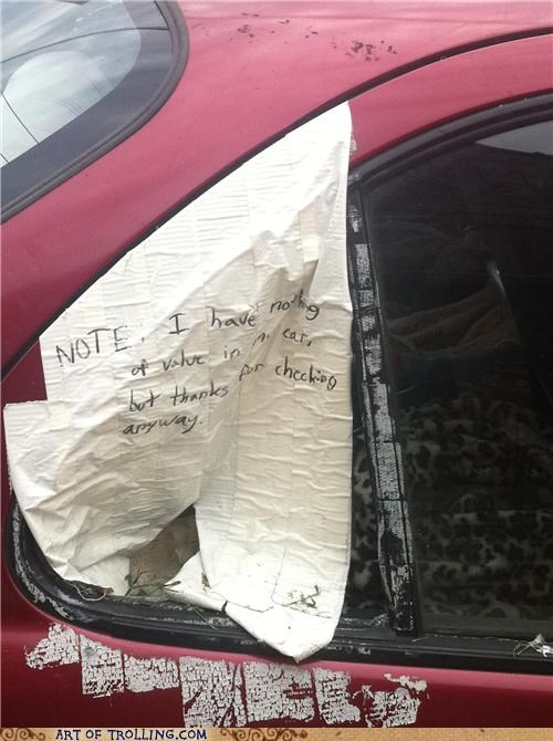 car,IRL,note,Sad,tape
