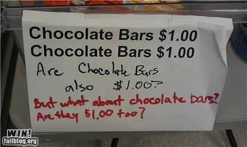 absurd candy echo chamber repeat response restaurant sarcasm sign - 5152829184