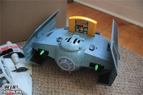 case mod,n64,nerdgasm,nintendo 64,star wars,tie fighter