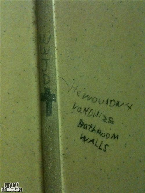 Bathroom Graffiti,graffiti,hacked irl,response,sassback,wwjd