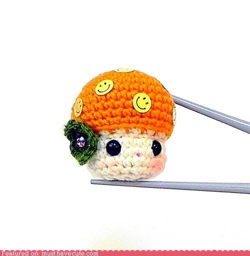 Amigurumi,mushroom,Plush,tiny