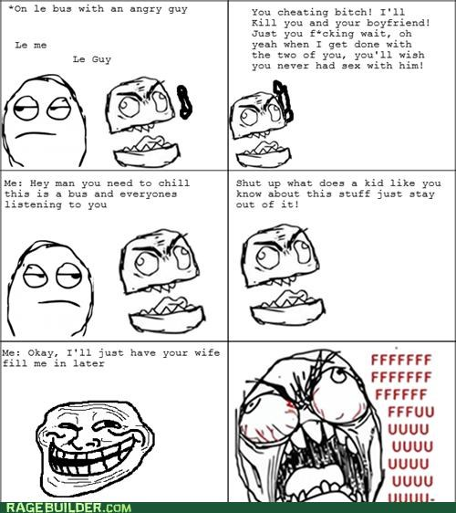 awesome bus cheating Rage Comics win - 5153179136