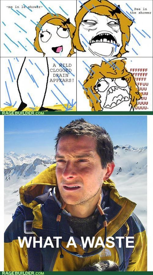 bear grylls,peetimes,Rage Comics,sweet jesus have mercy,waste