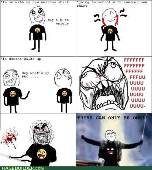 Awkward new shirt Rage Comics same shirt - 5153252864