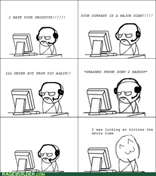 complain,customer support,kitties,nag,Rage Comics,scam