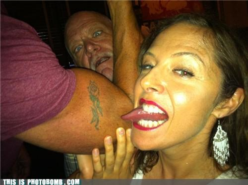 creepy sneakers lick old guy tattoo tongue