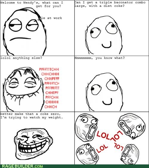 diet fast food gross Rage Comics soda