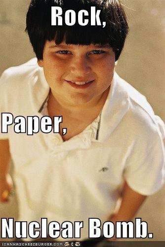 Rock, Paper, Nuclear Bomb.