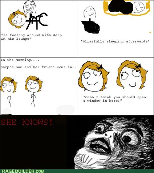 gross,Rage Comics,sexytimes,she knows,smell