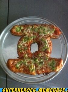 cut delicious Green lantern pizza Random Heroics