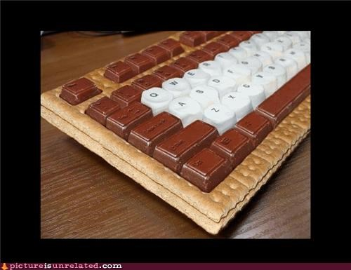 chocolate keyboard marshmallow smores wtf - 5155197952