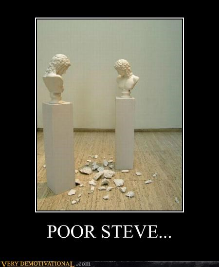broken,Hall of Fame,hilarious,statue,steve