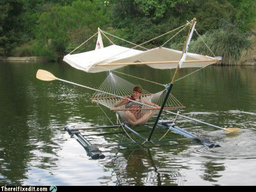 boat hammock vehicle wtf