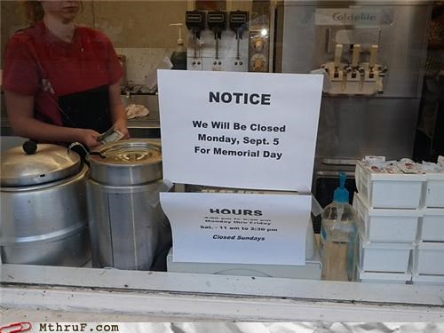 labor day,sign,wrong holiday