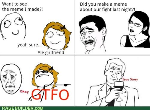 fight,girlfriend,meta,Rage Comics