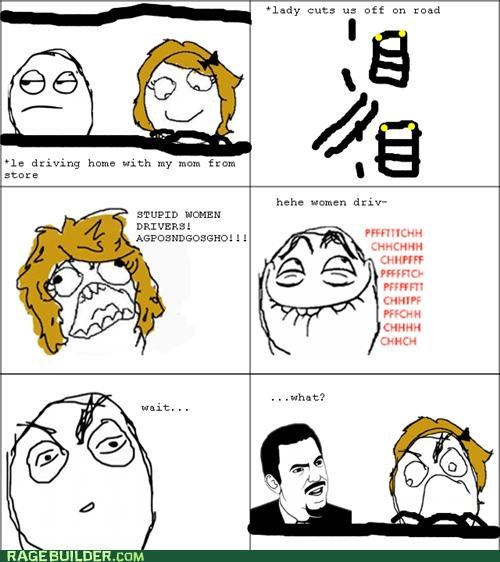 drivers,Rage Comics,women,wtf