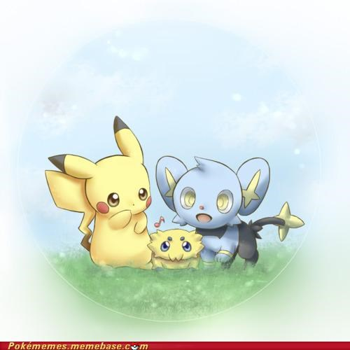 art electric types pikachu shinx - 5156090624