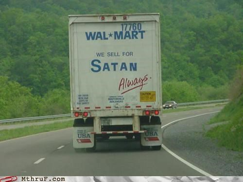 Hall of Fame lucifer satan the devil truck wal mart