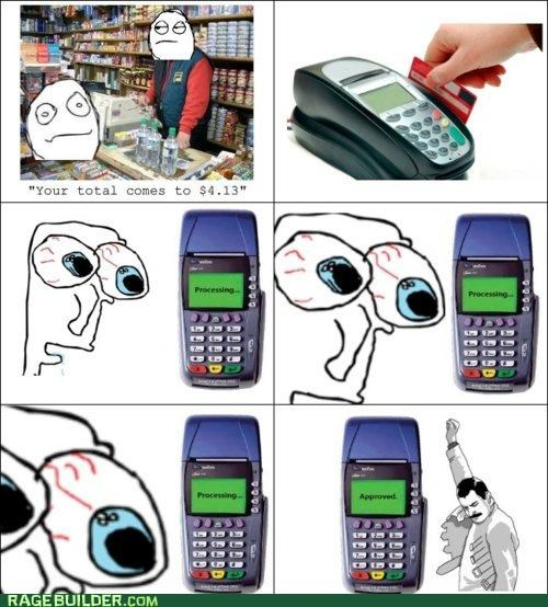 credit card,fear,freddie,Rage Comics
