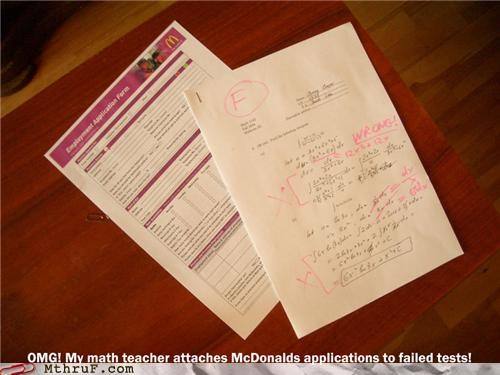 fast food Hall of Fame math McDonald's retail school service sector tests - 5156191232