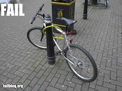 bicycle,common sense,failboat,g rated,lock,stupidity