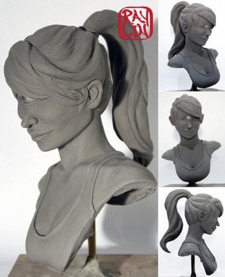 3d bender busts Fan Art farnsworth futurama leela realistic sculptures Toyz tv shows Zoidberg - 5156566528