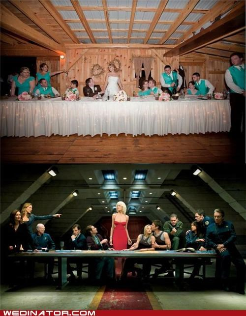 Battlestar Galactica funny wedding photos Hall of Fame the last supper