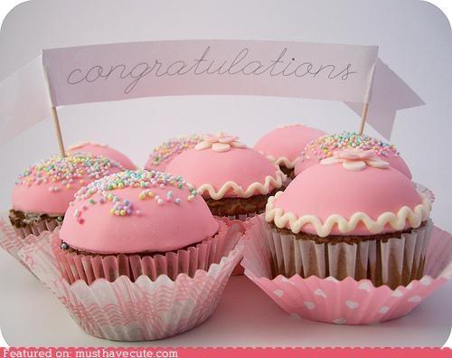 banner cupcakes epicute fondant pink sprinkles - 5156746752