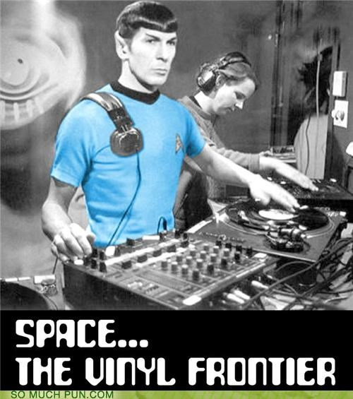 catchphrase final frontier Hall of Fame literalism quote similar sounding space Spock Star Trek vinyl - 5156765184