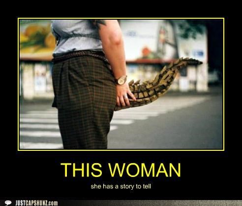 alligators,stories,story,tails,woman,wtf