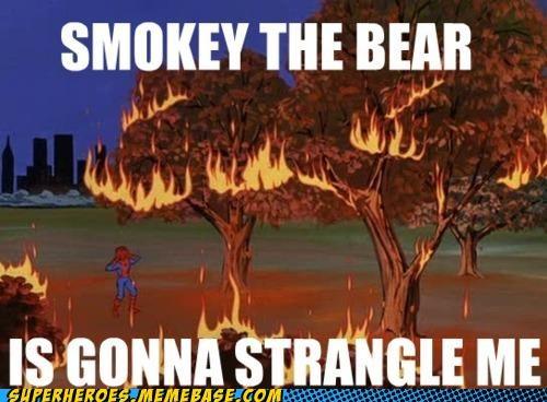 fire Smokey the Bear Spider-Man Super-Lols wtf - 5156792320