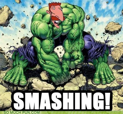 cartoons catchphrase hulk hulk smash literalism mashup nigel thornberry smashing the incredible hulk the wild thornberries - 5156946432