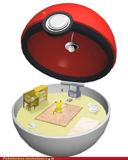 art lavish living living the life pikachu playing-himself pokeball - 5156963072
