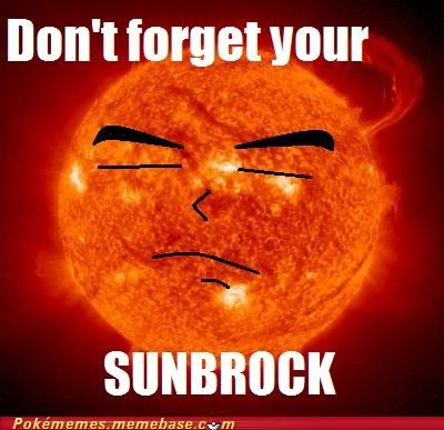 brock burn heal Memes sunblock The Sun - 5156975616