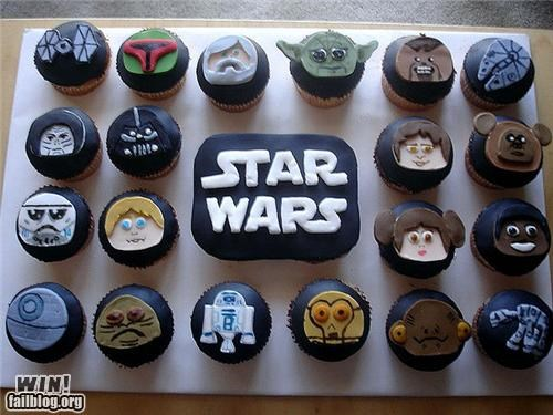 cupcakes,dessert,food,nerdgasm,star wars,tasty