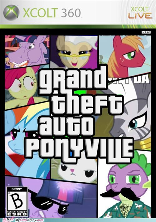 brony crossover grand theft auto ponyvill video games xcolt 360 - 5157427968