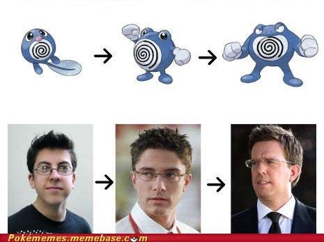 christopher mintz,ed helms,Evolve,IRL evolution,plasse,poliwag,poliwhirl,poliwrath,topher grace