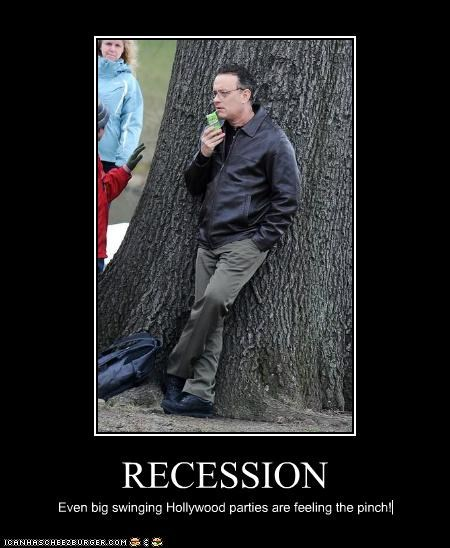 RECESSION Even big swinging Hollywood parties are feeling the pinch!