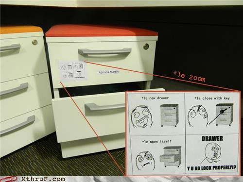 drawer lock Memes office supplies rage comic - 5158860800