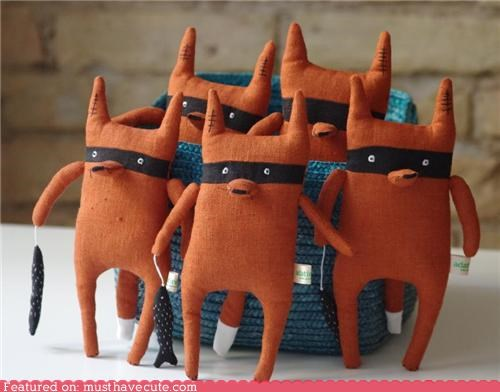 bandits foxes handmade mask Plush toy - 5158899712