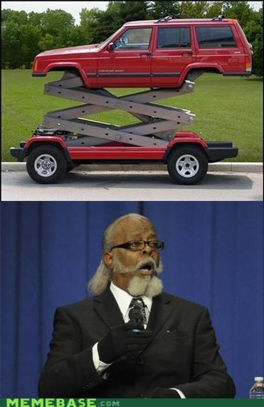 car,high,jimmy mcmillan,stilts,what