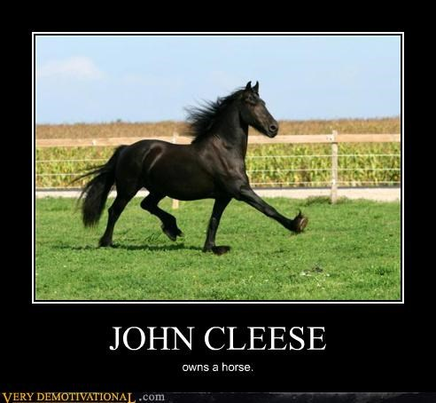 hilarious horse John Cleese silly walk - 5159206400