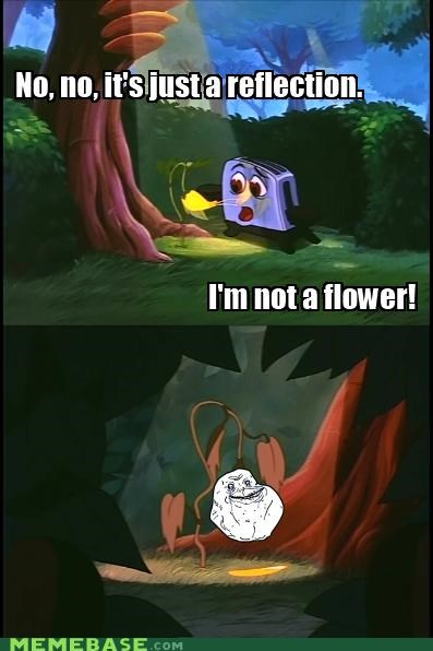 Flower forever alone reflection toaster - 5159252992