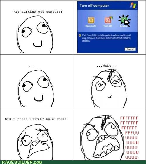 computer,Rage Comics,restart,shut down