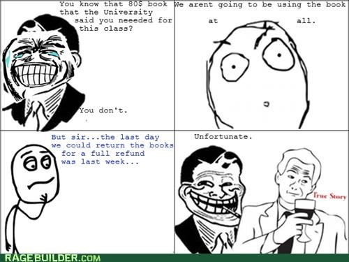 annoying college professor Rage Comics textbook - 5159615744