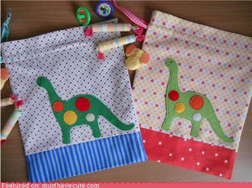 bags,dinosaurs,fabric