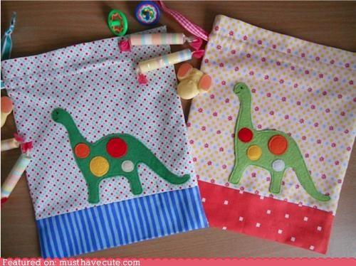 bags dinosaurs fabric - 5159720960