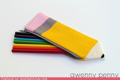 fabric pencil pencil case pouch zipper - 5159723264