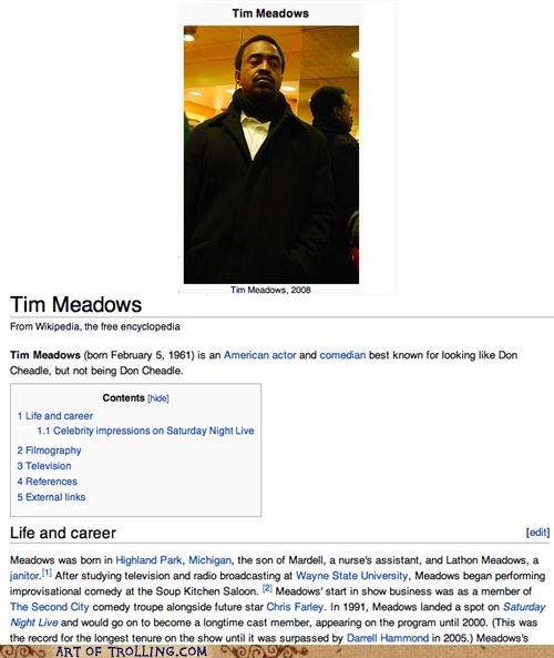 Don Cheadle,look alike,tim meadows,wikipedia