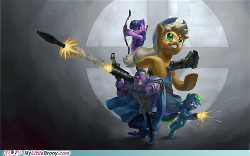 applejack blue team crossover rainbow dash spike Team Fortress 2 twilight sparkle - 5159844352